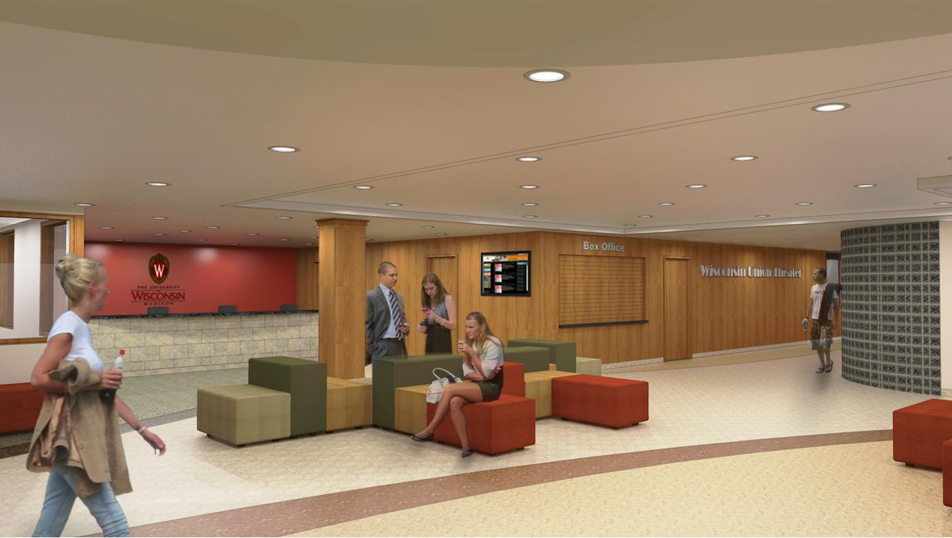 View the latest interior renderings for phase i memorial for Interior design house entrance